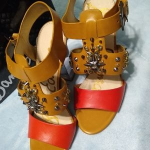 Sam Edelman camel nwt studded heels